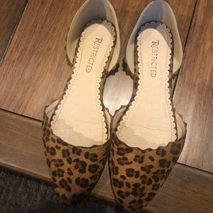 WORN ONCE: cheetah restricted flats